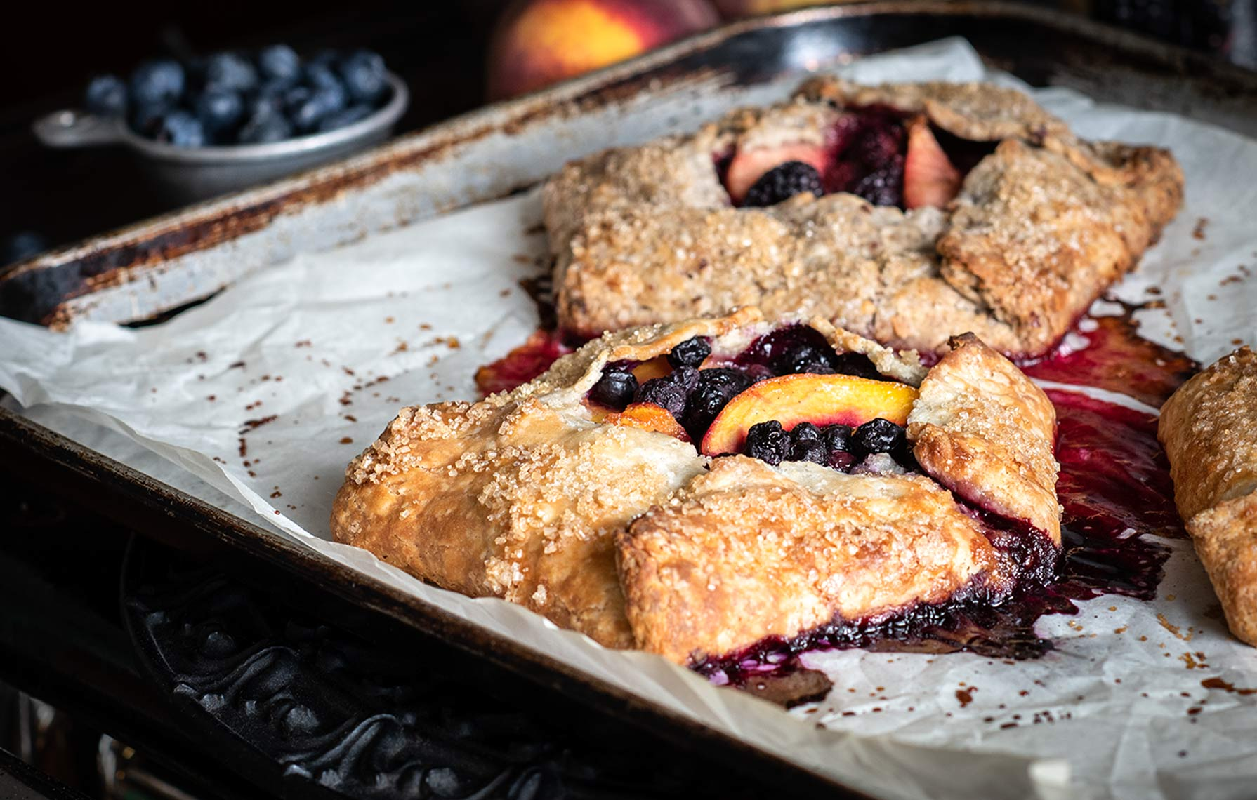 Food Photography Tart Baked Goods Peach Blueberry Apple Blackberry Tarts